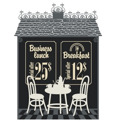 Business lunch cafe vector