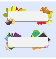 Set of two banners with seasonal background vector