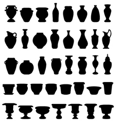 Pots and pottery vector