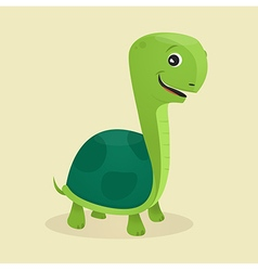 Cartoon style turtle vector image