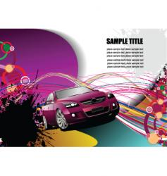 grunge transport background vector image