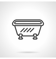Bathtub black line design icon vector