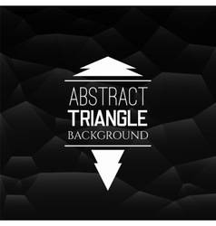 Abstract black triangle pattern vector image