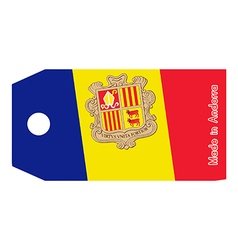 Andorra flag on price tag vector