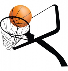 basketball hoop dynamic vector image