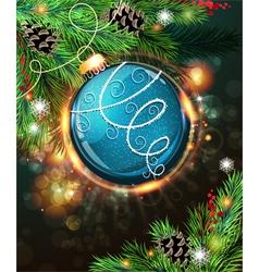 Blue christmas ball vector