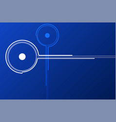 Blue technology node background vector