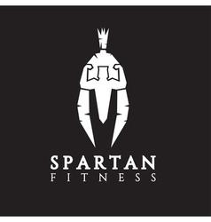 Bodybuilder as part of the spartan helmet concept vector