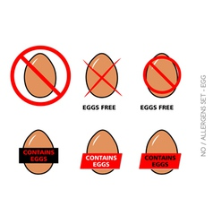Brown egg free symbols on white background vector