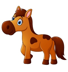 Brown horse cartoon vector image vector image