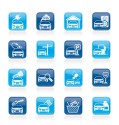 Car and road services icons vector