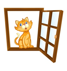 cat and window vector image vector image