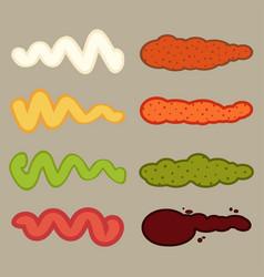 Color smears set vector