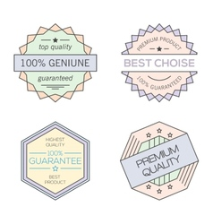 Colorful geometric minimal vintage badges vector image