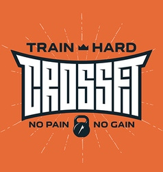 Crossfit - original lettering print for t-shirt or vector
