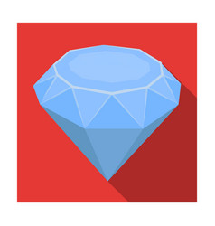 Diamond icon in flat style isolated on white vector