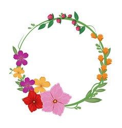 flowers spring crown decoration vector image