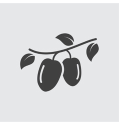 Goji icon vector