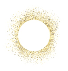 Gold sparkles on white background white circle vector
