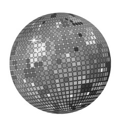 grey disco ball vector image vector image