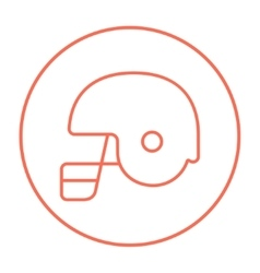Hockey helmet line icon vector