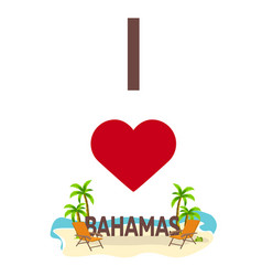 i love panamas travel palm summer lounge chair vector image vector image