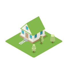 isolated isomatic house property set vector image