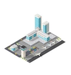 Isometric city airport vector