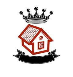 Kingdom idea imperial blazon with a stylish vector