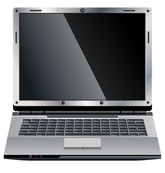 Laptop small vector image