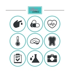 Medicine healthcare and diagnosis icons vector image vector image