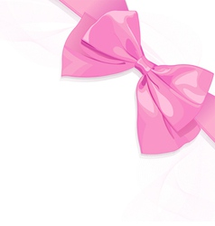 Pink bow vector image vector image