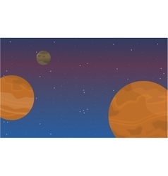 Planet space background beautiful landscape vector