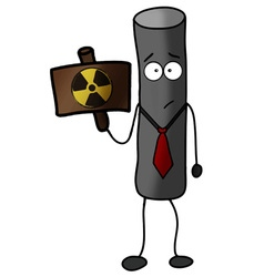 Radioactive particle warning power protection vector
