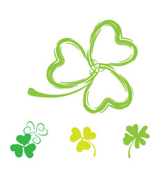 shamrock icon for st patrick day vector image vector image
