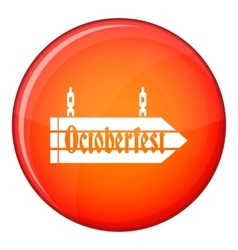 Sign octoberfest icon flat style vector