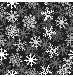 snow black pattern vector image vector image