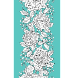 Tea rose pattern vector