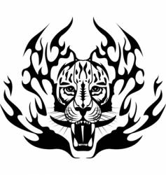tiger tattoo vector image vector image