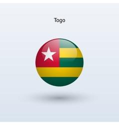 Togo round flag vector