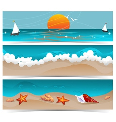 Traveling Summer Banners vector image