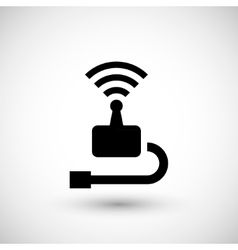 Wireless transmitter icon vector