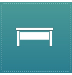 Writing desk flat icon vector