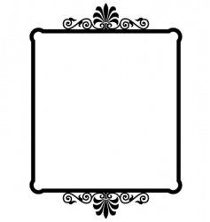 Wrought iron frame vector
