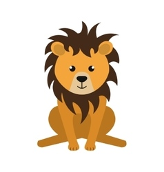 Lion animal cartoon vector