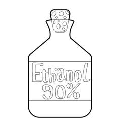 Ethanol in bottle icon outline style vector