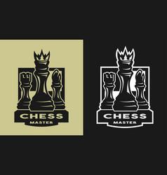 King bishop castle chess game emblem logo vector