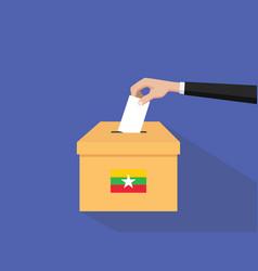 Burma vote election concept with vector