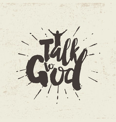 Talk to god vector
