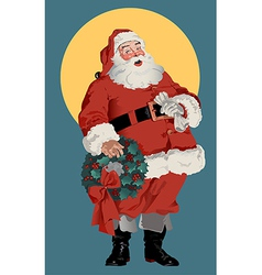 Traditional american santa claus vector